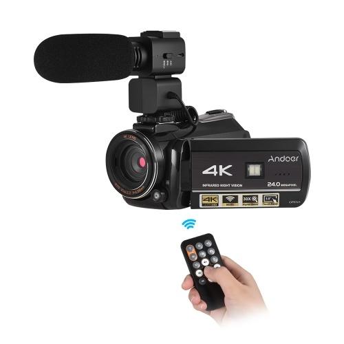 Andoer AC3 4K UHD 24MP Câmera de Vídeo Digital Camcorder