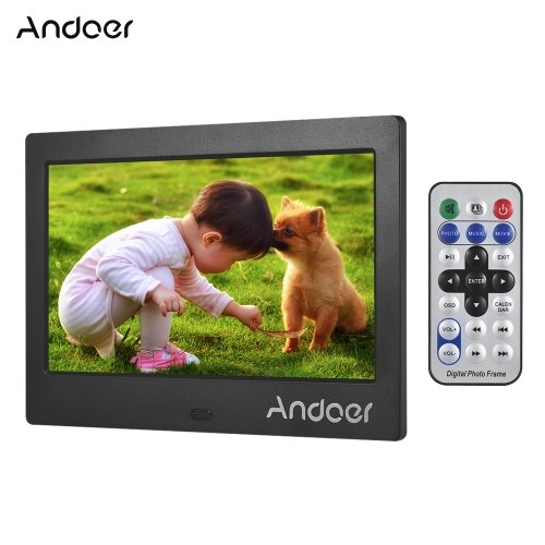 Marco de fotos digital Andoer 7 pulgadas IPS HD Pantalla 1024 * 600