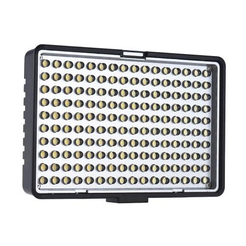 Travor TL-160プロフェッショナルモノカラー温度調節可能LEDビデオライト写真フィラメントライトキャリブレーションニコンソニーDSLRカメラビデオカメラ用2色フィルター付き8レベルルミネスCRI 85+