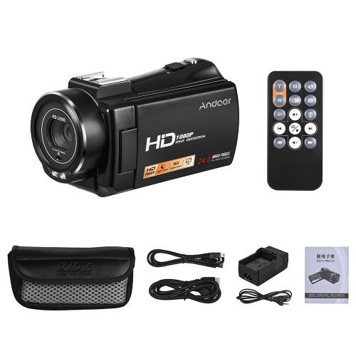 Andoer HDV-V7 PLUS 1080P Full HD 24MP caméra vidéo numérique portable caméscope
