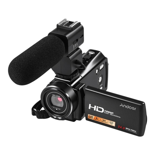 Andoer HDV-V7 PLUS 1080P Full HD 24MP Câmara de Vídeo Portátil Digital Video Camcorder