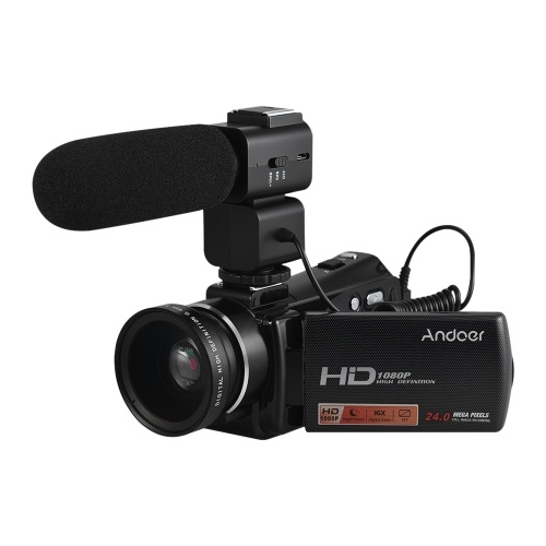 Andoer HDV-V7 PLUS 1080P Full HD 24MP Câmara de Vídeo Portátil Digital Video Camcorder