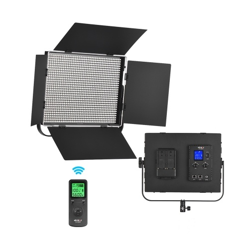 Viltrox VL-D85T Professional Slim Metal 3300K-5600K Bi-Color LED Video Light Fill Light with Remote Control Adjustable Brightness Max. Power 85W CRI 95+ for Micro Film MV Recording Portrait Wedding News Interview and Product Photography