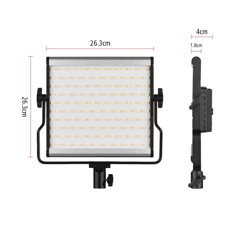 L4500 3200K-5600K Bi-color LED Camera Video Light Video Adjustable Brightness Photography Fill Light + AC Power Adapter with Large LCD Display 15W D5731US