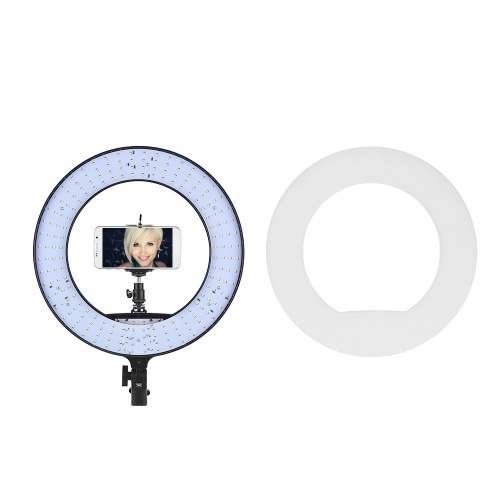 LED Ring Light 192 Pieces LEDs Anchor Live Light 3200K to 5500K Color Temperature 38W Power Ring Video Lamp for Makeup Camera Phone Video Shooting Pin