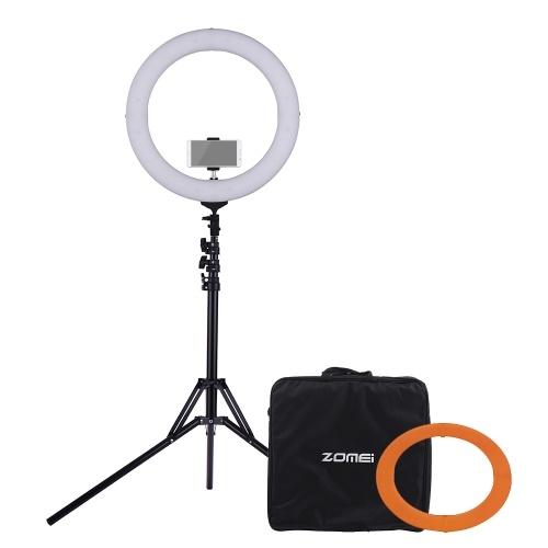 ZOMEI 18 pollici 5500K Anello dimmerabile monocolore Video Light LED Fill Light CRI 90+