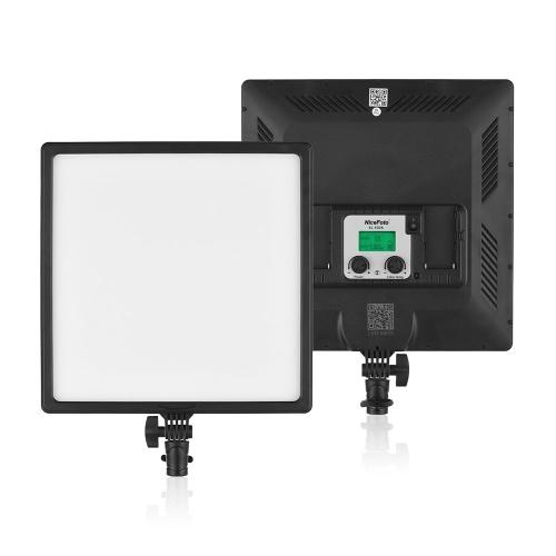 NiceFoto SL-500A Ultradünne, zweifarbige LED-Videoleuchte für Füllen von Licht 3200K-6500K CRI 95+ Mobile APP-Steuerung für Videoaufnahme Professionelle Studio-kommerzielle Fotografie Hochzeitsfotografie Live-Video