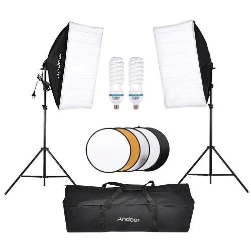 Andoer Photography Studio Softbox Kit d'éclairage pour tente