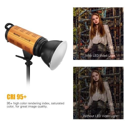 NiceFoto LED-1500A II Photography LED Video Light Lamp