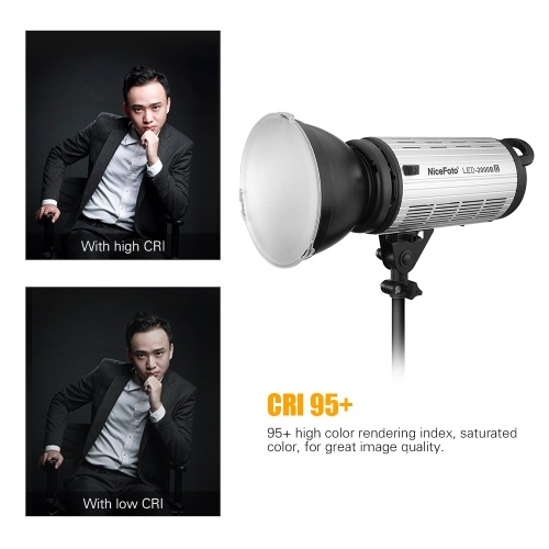 NiceFoto LED-1500B II Photography LED Video Light Lamp