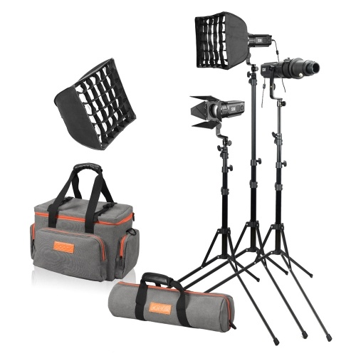 Godox S30-D 90W Dimmable Focusing LED Spotlight 5600K CRI 96+ Continuous LED Light