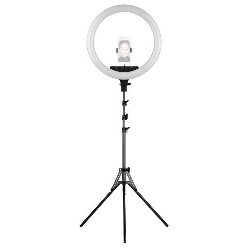 18 Inch LED Ring Light Fill-in Lamp 48W Dimmable Brightness Adjustable  2700K-5500K Color Temperature Lighting