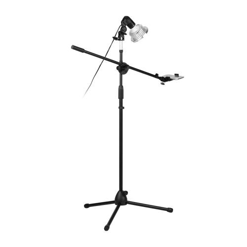 Kit de support de lumière de photographie professionnelle 140cm / 4.6ft hauteur réglable Kit de support de trépied de plancher en alliage d'aluminium durable