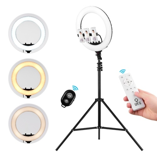 Video Light Kit with 18inch LED Ring Light Adjustable 2m Tripod