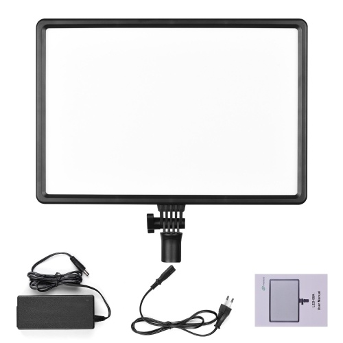 50W LED Fill Light Panel Photography Lamp Portable 3200K-5600K Dimmable Brightness Multi-functional Superbright LED Display