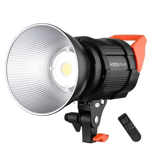 Andoer DL-80 80W Videofokuslicht 5600K Tageslicht Dimmbares COB-LED-Videolicht