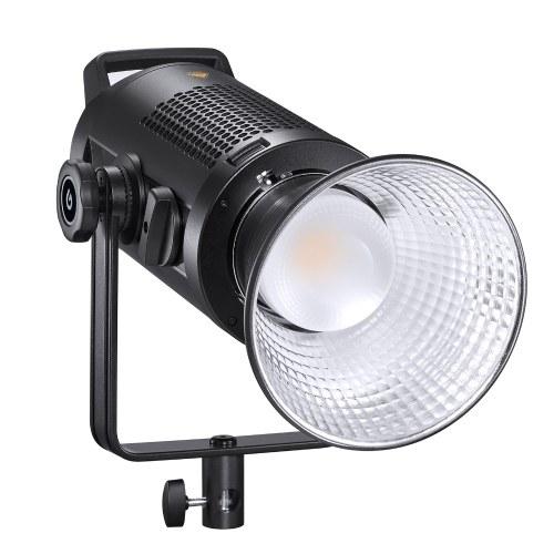 Godox Studio LED Video Light Масштабируемая лампа для фотосъемки 200 Вт, двухцветная, 2800-6500K, с регулируемой яркостью, с отражателем Bowens Mount для студийной фотосъемки в прямом эфире
