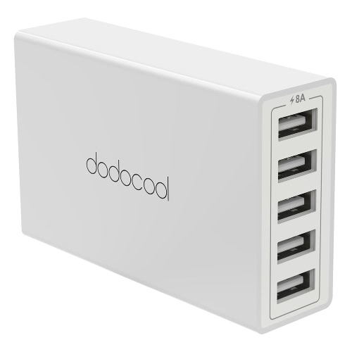 dodocool 40W 8A 5-Port USB Charging Station Travel Wall Charger Power