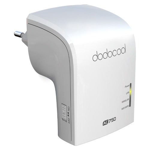 dodocool AC750 Dual Band Wireless Wi-Fi AP / repetidor / simultânea Router 2.4GHz 300Mbps e 5GHz 433Mbps UE Plug