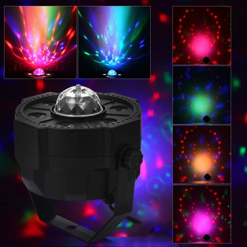 Mini LED Par Lights RGB Spotlight DJ Party Lámpara BT Speaker