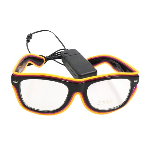 LED-Brille 20 Farben Optionales Licht