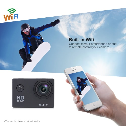 W9B 1080P 30FPS Max 12MP Wifi Waterproof 30M Shockproof 170°Wide Angle 2.0 Screen Outdoor Action Spo