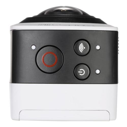 Andoer Panorama 360 ° VR видеокамера Full HD 1440P 1080P 30FPS 8MP Спорт Действие IP-камера 220 ° Рыбий широкоугольный объектив купола Wifi Поддержка Гироскоп Виртуальная реальность Система разделенного экрана вверх-вниз Флип дисплей