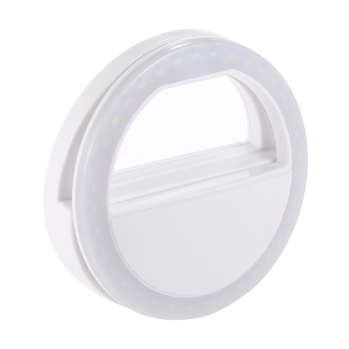 Przenośny Clip-on Mini 36 Lampa LED selfie Pierścień wypełniający świetlny nocne Używanie dodatkowego oświetlenia dla iPhone Samsung BlackBerry HTC Huawei LG Smartphone PC