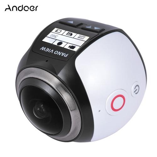 Andoer V1 360 stopni Kamera Wifi 2448P 30FPS 16M Fisheye Źródło Film dla rejestratora wirtualnej Okulary VR Sports Action zajęcia Camera Kamera samochodowa