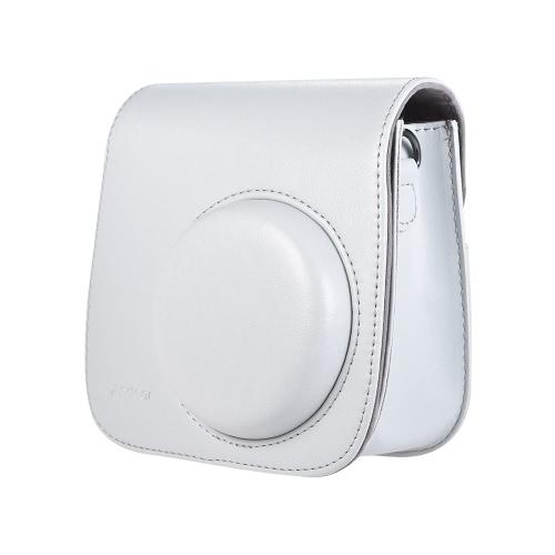 Andoer PUインスタントカメラケースバッグ、ストラップ付き、Fujifilm Instax Mini 9/8/8 + / 8sスモーキーホワイト