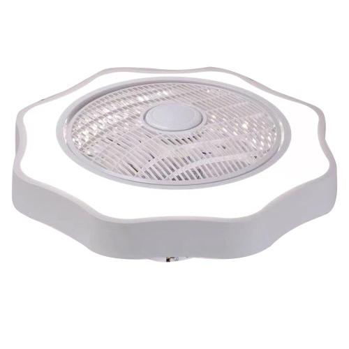 Ventilador de techo con iluminación Luz LED Atenuación gradual Control de velocidad del viento ajustable sin batería Luz de techo LED moderna para dormitorio Sala de estar Comedor