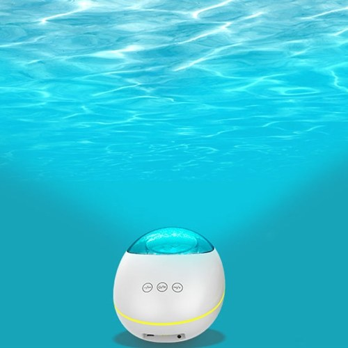 Night Light Projector Ocean Wave Bluetooth Music Player TF Card Reading Remote Control Timer AUX IN for Mobile Phone Computer