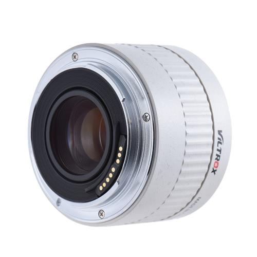 Viltrox C-AF 2X AF Auto Focus Objectif téléconvertisseur Extender Grossissement pour Canon EF Monture 7D 6D 7DII 80D 5D2 5D3 5DS 5DSR 1DMark I / II / III / IV 1Ds Mark I / II / III 1DX DSLR
