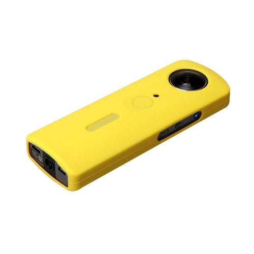 Tampa de borracha Andoer protetora de silicone Soft Case Protector tampa da pele para Ricoh Theta S panorâmica de 360 graus Panorama Camera