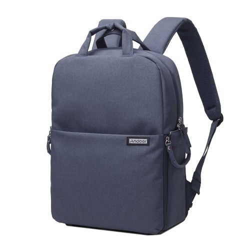 Andoer Etanche antichoc Caméra DSLR Bag Photographie vidéo Backpack Leisure Shoulder Bag pour Nikon Canon Sony Pentax Sony Caméra w / Rain Cover
