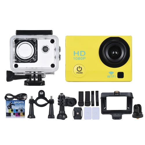 2 LCD 12MP 1080P WiFi Action Sports Camera