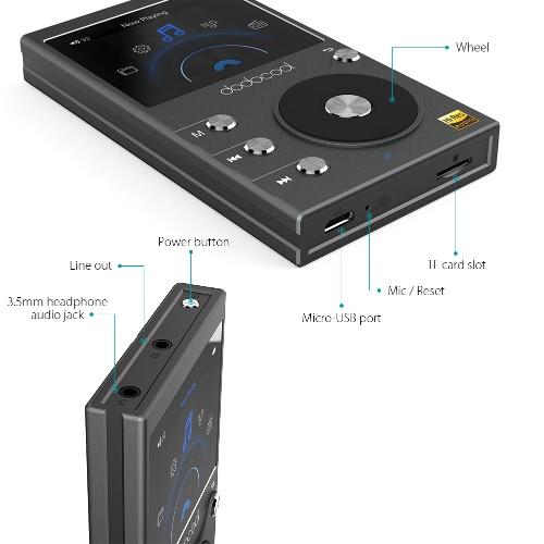 Hi-Fi Music Player with Voice Recorder and FM Radio-dodocool com