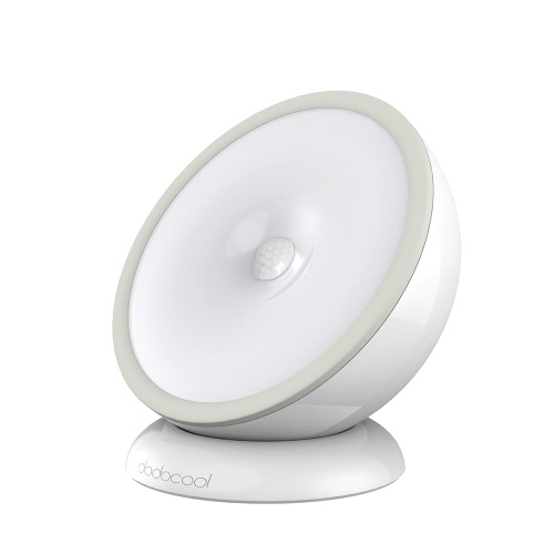 dodocool 0.5W 5 LED Автоматическое движение и светочувствительный Белый Night Light USB аккумуляторных или батарейки 2 Режимов Illumination с отделяемым магнитным основанием Грея