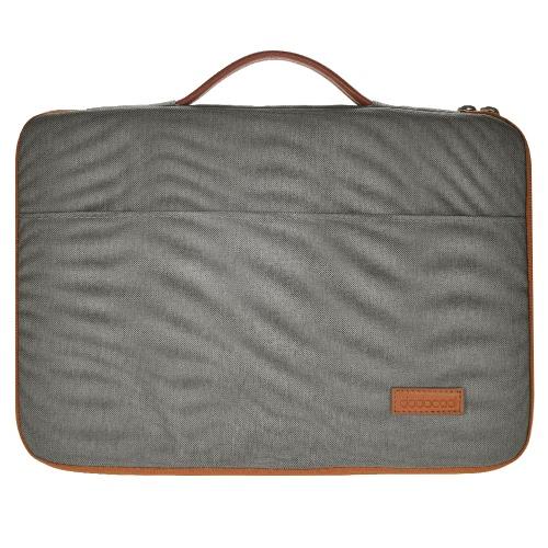 dodocool 13-13,3 Inch Laptop Nylon Zipper manga Ultrabook Maleta Notebook Bolsa de protecção Cubra com PU alça de couro para Apple 13