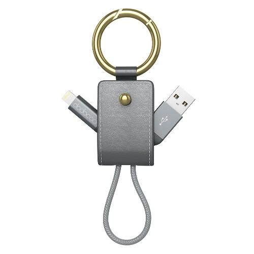 dodocool 2-em-1 MFi Certified trançado relâmpago para cabo USB 0,51 pés / 155 milímetros com Keychain para iPhone 7 Plus / 7 / SE / 6s Plus / 6s / 6 Plus / 6/5 / 5s / 5e / iPad Air 1/2 / iPad mini Pro / iPad 1/2/3/4 / iPod touch de quinta geração / nano 7ª gen espaço cinza