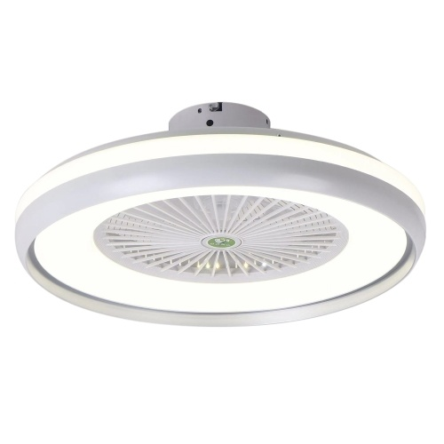 Ceiling Fan with Lighting LED Light Stepless Dimming Adjustable Wind Speed Remote Control Without Battery Modern LED Ceiling Light for Bedroom Living Room Dining Room