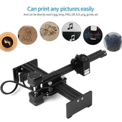 20w Laser Engraving Machine Mini Desktop Laser Engraver Printer Portable Carver DIY Laser Logo Mark Printer Working Area 170*200mm