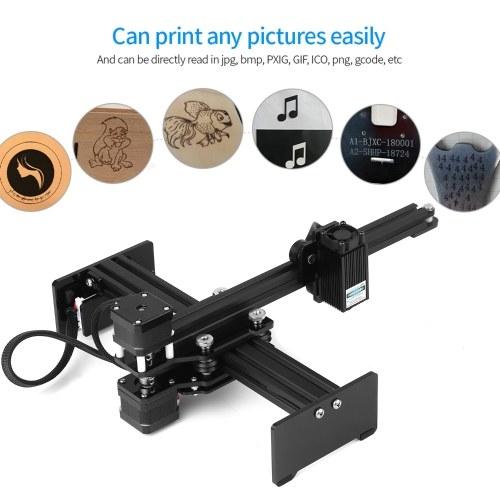 5500mw Laser Engraving Machine Mini Desktop Laser Engraver Printer Portable Carver DIY Laser Logo Mark Printer Working Area 170*200mm