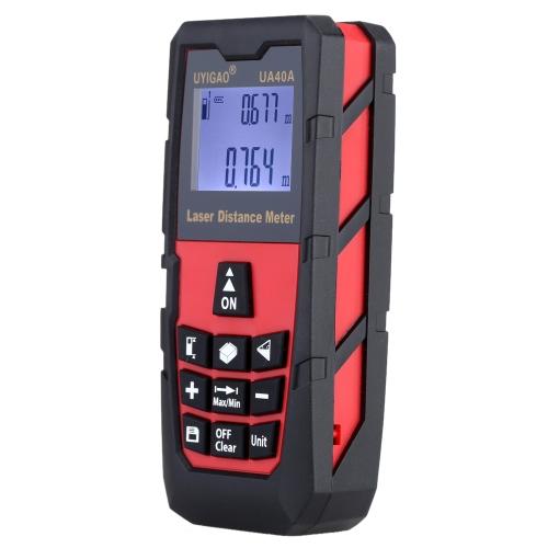 100m Digital Laser Distance Meter Handheld Laser Range Finder Measure Distance Area Volume Self-calibration Level Bubble Electronic Ruler High Precision