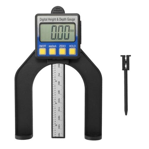 Hochgenaue LCD-Digitalanzeige Schiebesattel Messschieber Lineal Höhen- und Tiefenmesser mit Messbereich von 0-85 mm Boden mit Magneten
