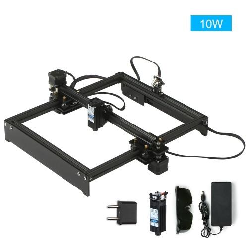 10Wレーザー彫刻機オフライン制御デスクトップDIYレーザー彫刻カッターレーザーロゴマークプリンターワーキングエリア280 * 230mm EUプラグ
