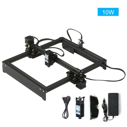 10W Laser Engraving Machine Off-Line Control Desktop DIY Laser Engraver Cutter Laser Logo Mark Printer Working Area 280*230mm US Plug