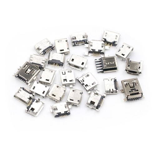 Multi-specification Micro USB Connector Pin Charge Female SMT Socket Jack Set 120pcs