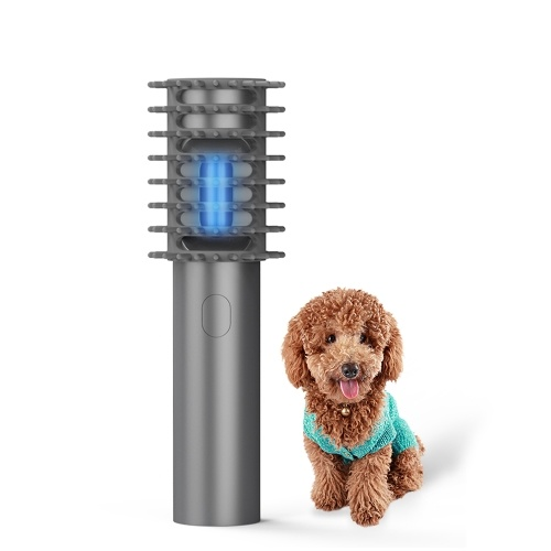 Handheld Ultraviolet Comb Pet Hair Brush UV Sterilization Dog Brush Massaging Brush with Disinfection UV Light