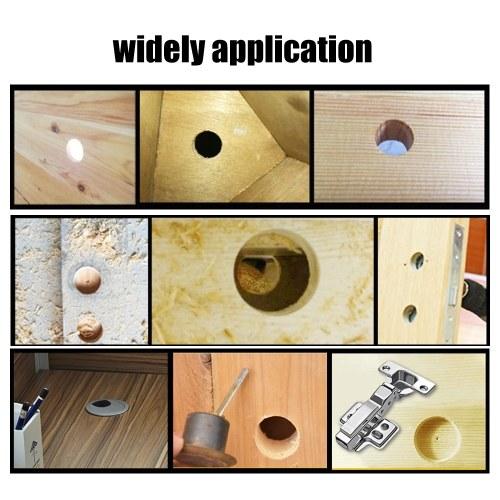 5pcs Forstner Drill Bits Set Carbon Steel Hole Cutter Drill Bit Hole Saw Bits Auger Opener for Wood Plastic Plywood Forstner Bit